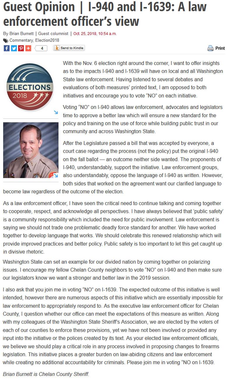 Chelan County Sheriff News
