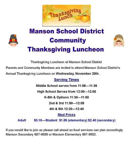 thanksgiving luncheon flyer